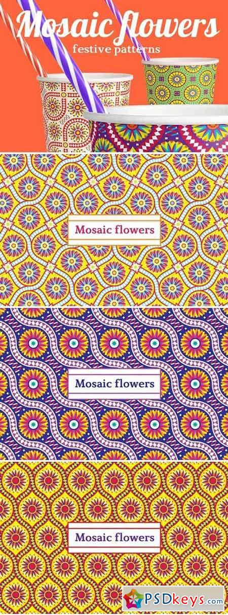 Mosaic flowers—Festive patterns 1907597