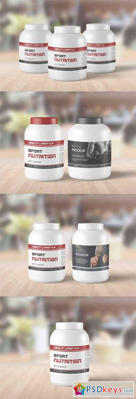 Sport Supplement Packaging Mockup Set