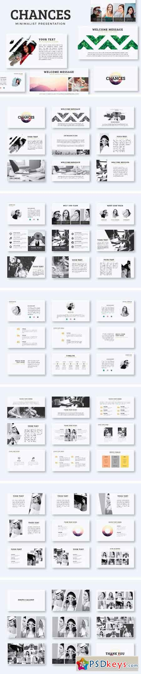 Chances PowerPoint Template 1923579