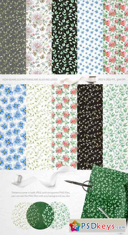 Watercolor Floral Collection 1851675