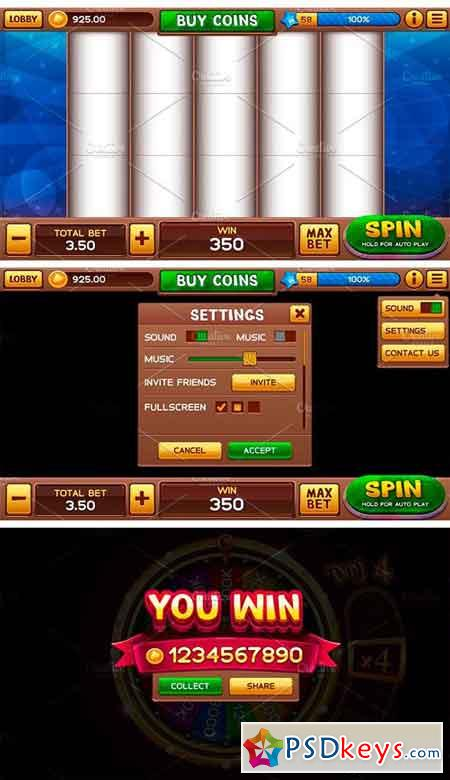 Lobby and GUI for Slots Games 1883670