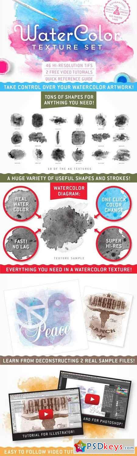 Watercolor Texture Pack 1133448