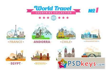 World Travel Countries Collection 1