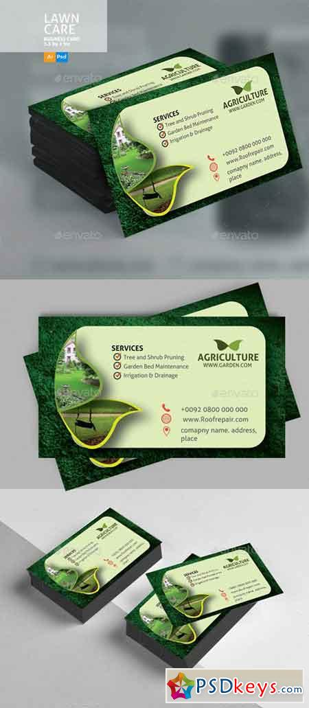 Lawn Care Business Card 20813592