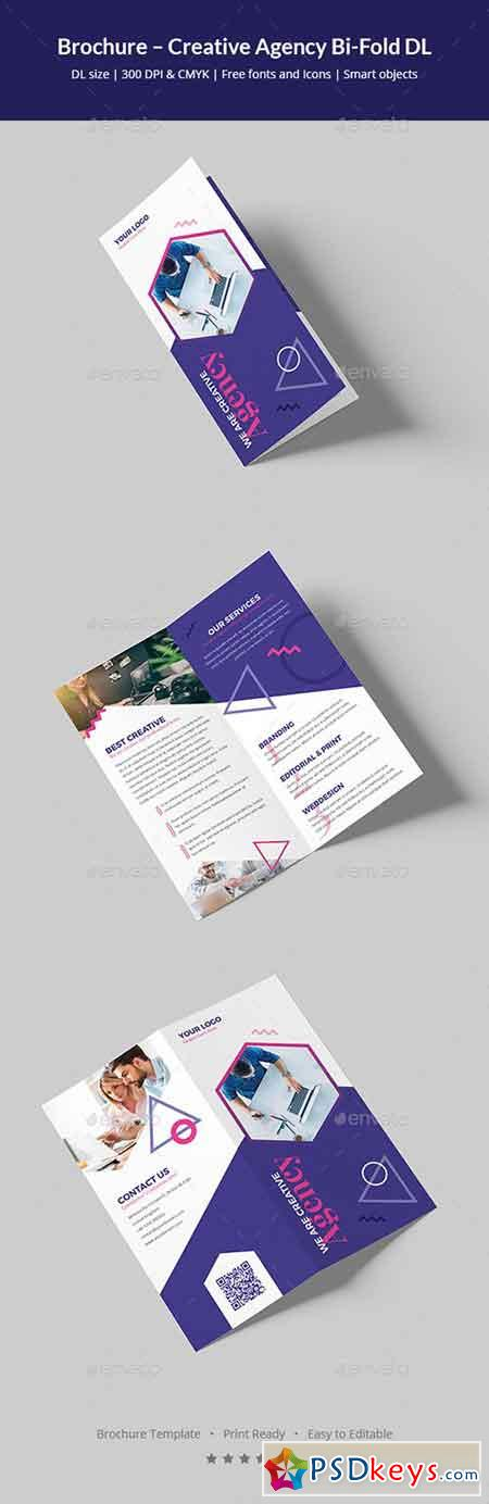Brochure – Creative Agency Bi-Fold DL 20777648