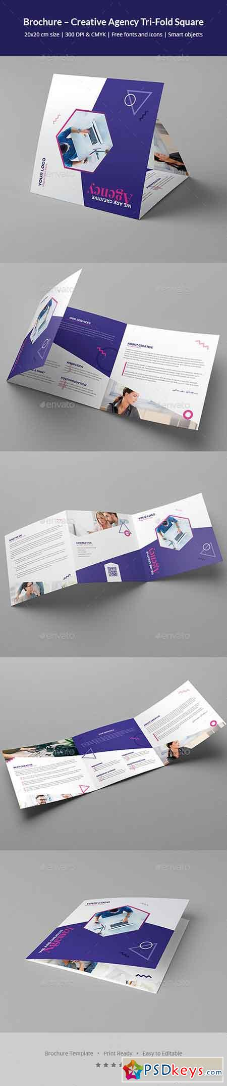 Brochure – Creative Agency Tri-Fold Square 20780971