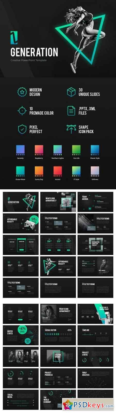 Z Generation Creative Powerpoint Template Free Download