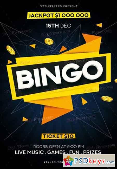 Bingo PSD V11 Flyer Template