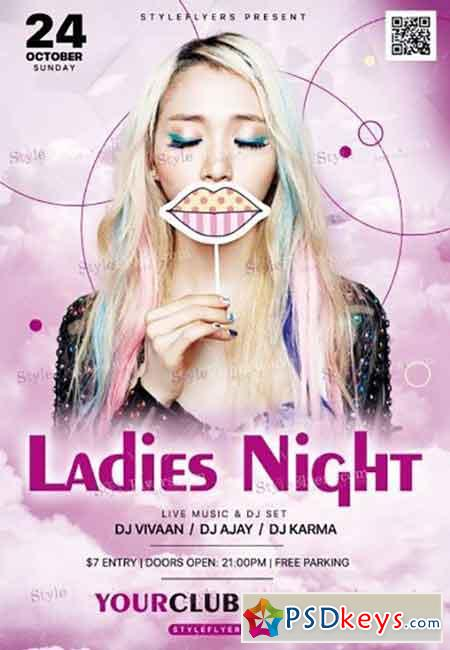 Ladies Night V09 PSD Flyer Template