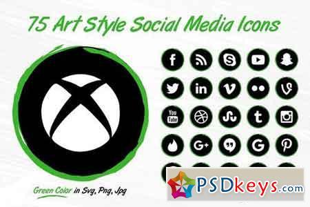75 Green Social Media BrushIcons 1808923