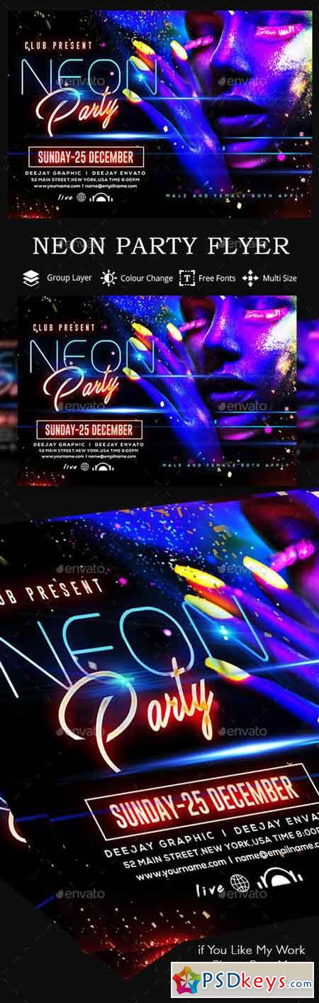 Neon Homecoming Flyers Timiznceptzmusic