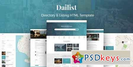 Dailist - Directory & Listing HTML Template 20700030