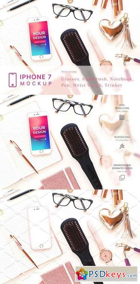 Cosmetic and Beauty iPhone 7 Mockup 1929728