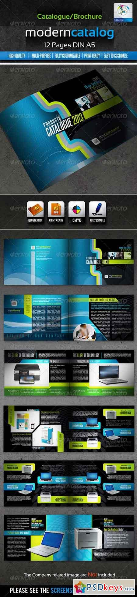 Corporate Modern Product Catalogue Brochure 12page 1632575