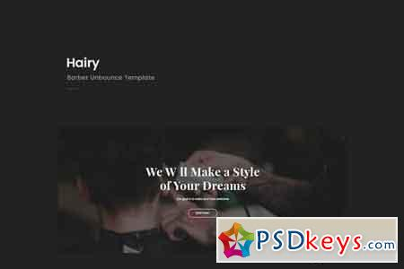 Hairy - Barber Unbounce Template 20516964