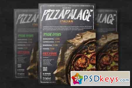 Restaurant Pizza Flyer Template