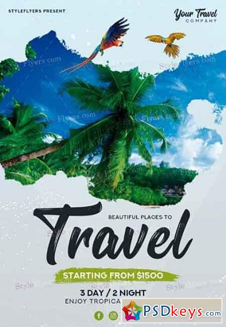 Travel PSD V05 Flyer Template