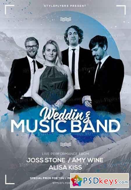 Wedding Music Band PSD Flyer Template