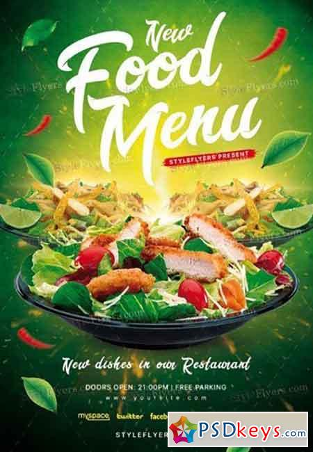 Food Menu V02 PSD Flyer Template