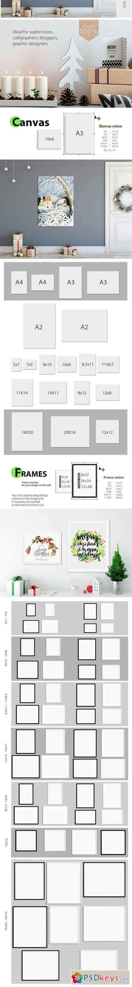 Christmas Frame Mockup Bundle 1923302
