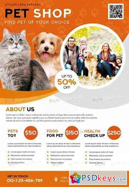 Pet Shop V02 PSD Flyer Template