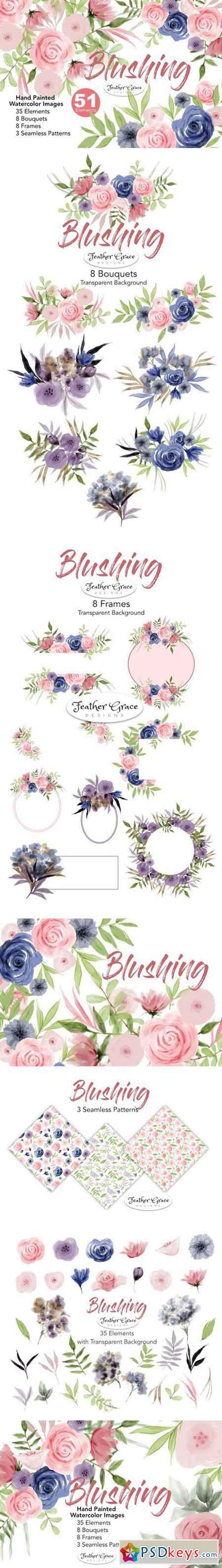 Watercolor Flower Clipart - Blushing 1870446