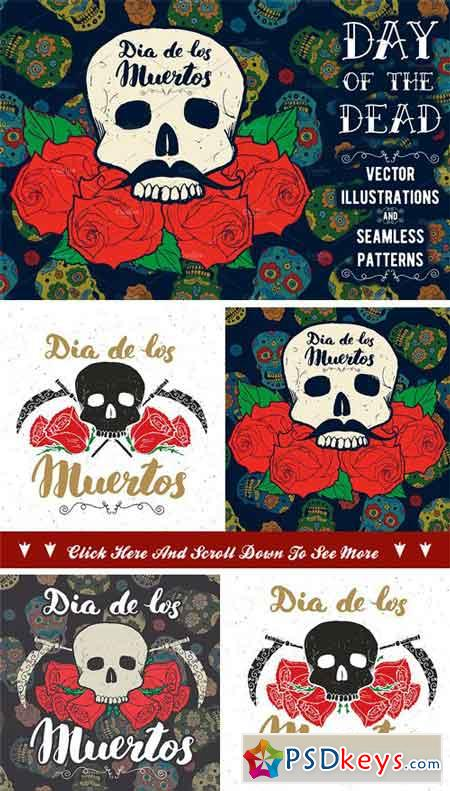 Day of the Dead, Cards and Patterns 1939019