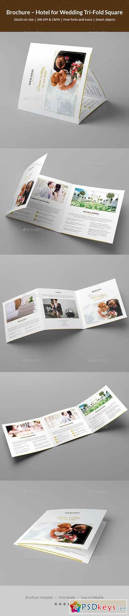 Brochure – Hotel for Wedding Tri-Fold Square 20775483