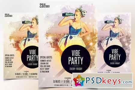 Vibe Party - PSD Flyer Template 1783740