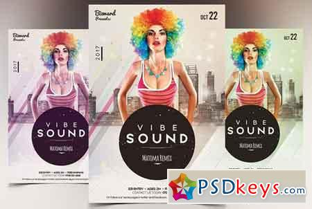 Vibe Sound - PSD Flyer Template 1866708