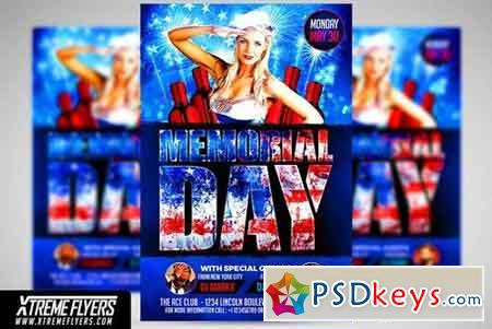 Memorial Day Flyer Template 1826031