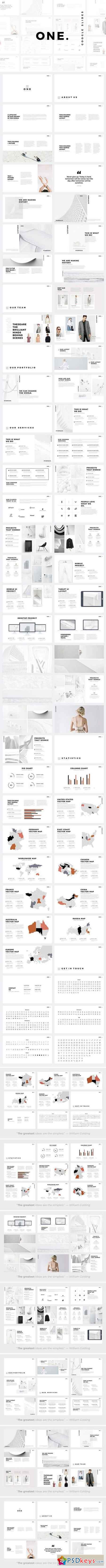 ONE Minimal Google Slides Template 1884092