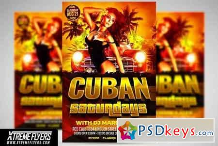 Cuban Latin Flyer Template 1825951