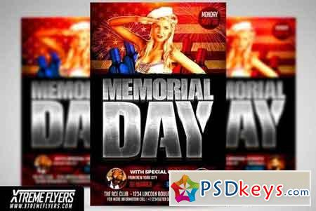 Memorial Day Flyer Template 1826043