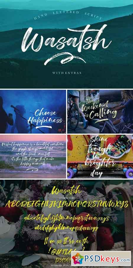 Wasatsh Brush Script Fonts 1925063