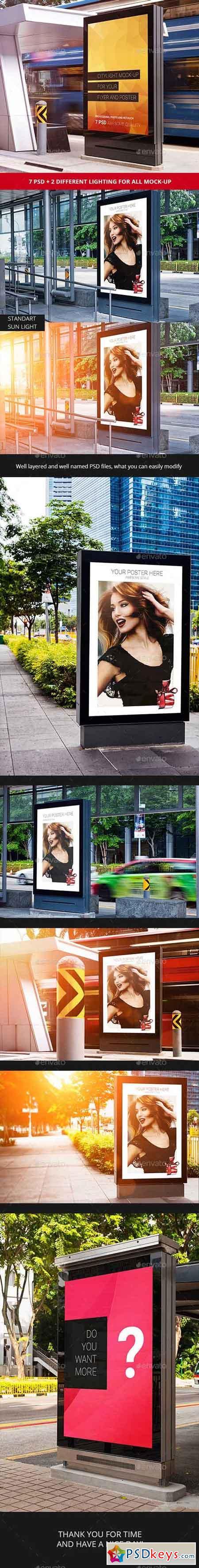 7 Citylight Poster Mock-Up 14404483