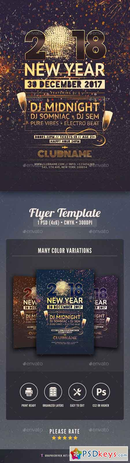New Year Flyer 18475825