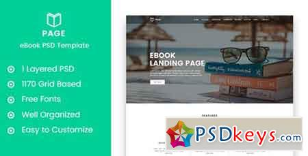 Page - eBook Selling Landing Page PSD Template 20658486