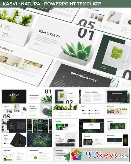 Kasvi  Nature Powerpoint Template  Free Download Photoshop Vector