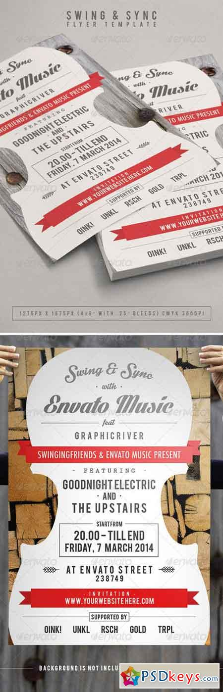 Swing & Sync Flyer Template 7227628