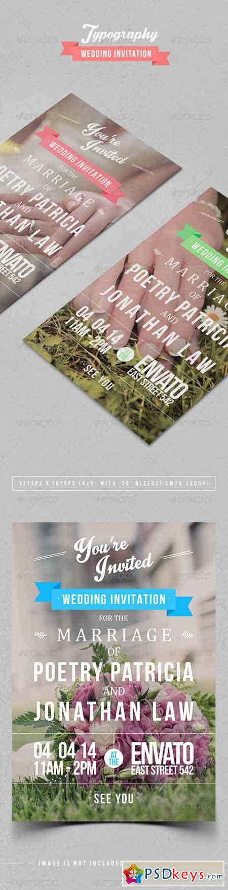 Typography Wedding Invitation 7104631