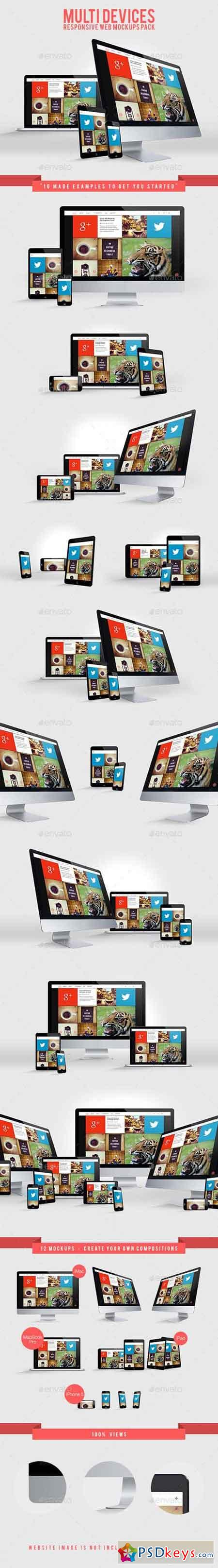 Multi Devices Responsive Web Mockups Pack