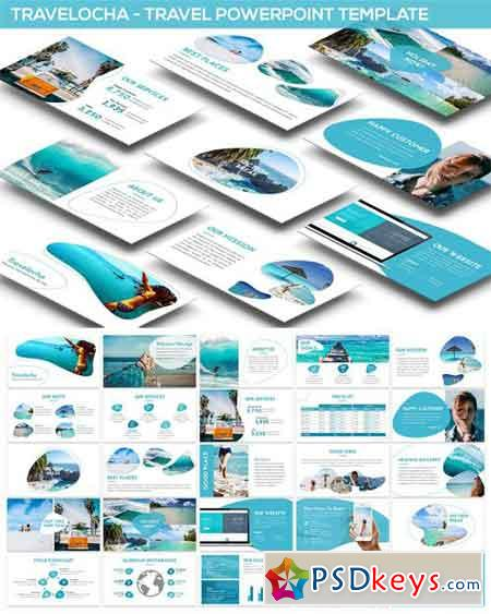 Travelocha Travel Powerpoint Template Free Download