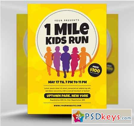 1 Mile Kids Run Flyer Template v1
