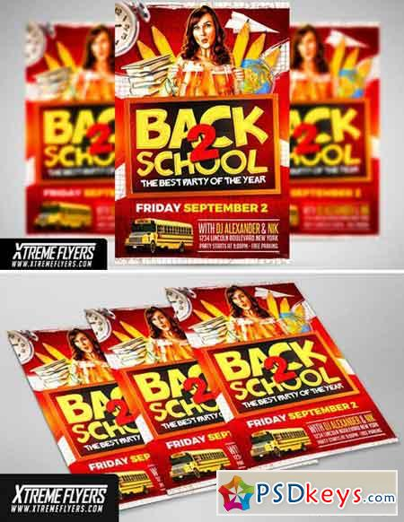 Back to School Flyer Template 1826100
