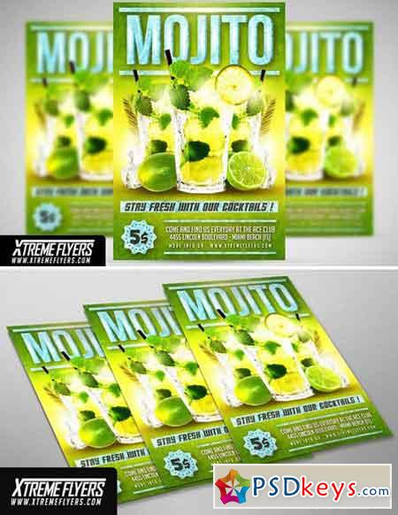 Mojito Cocktails Flyer Template 1815380