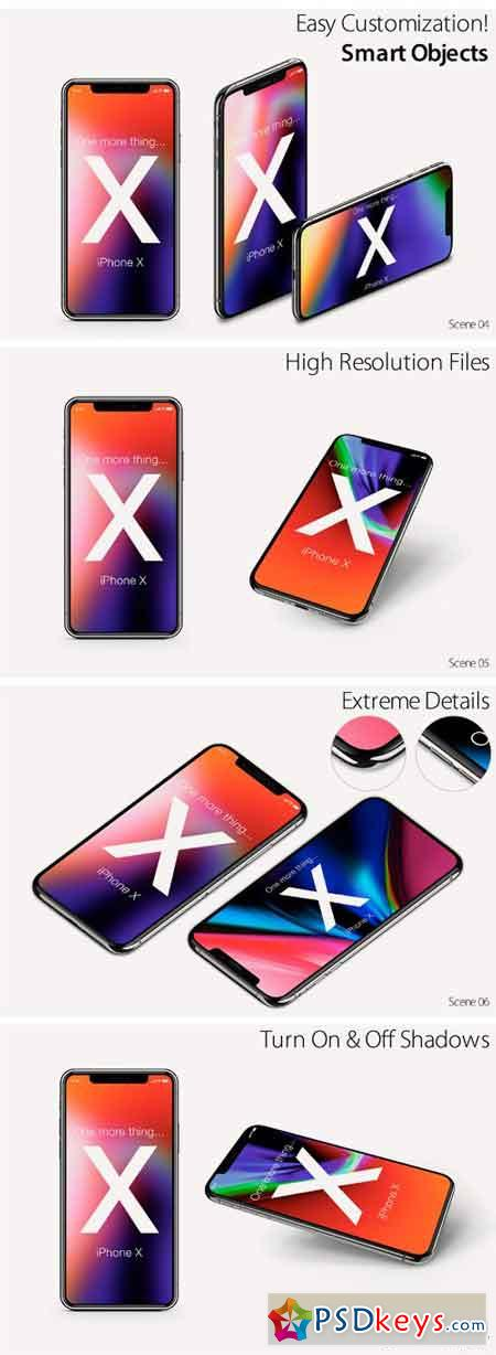 iPhone X Mock-ups Pack 1906633