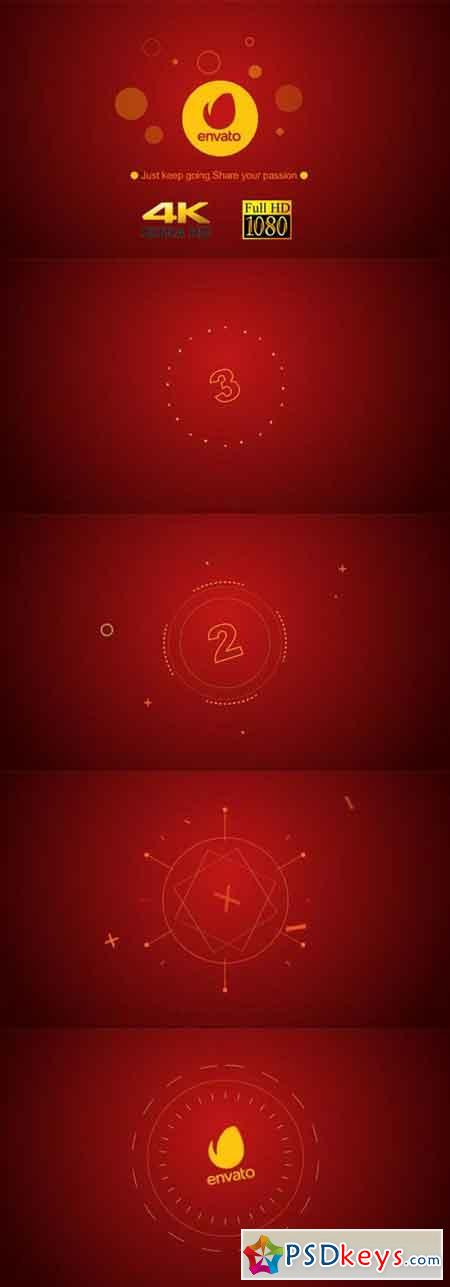 Simple Countdown Shape Logo 20444912 - After Effects Projects