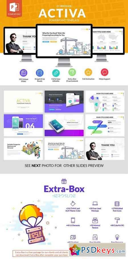activa business powerpoint template 1357999 » free download, Presentation templates