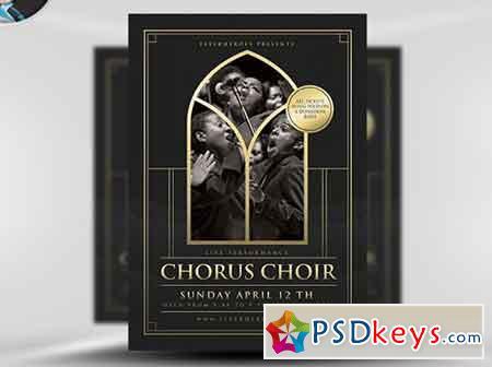 Chorus Choir Flyer Template V2 Free Download Photoshop Vector
